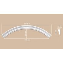 Радиус [1/4 круга] Decomaster 897164-120 (Rнар. 650 | Rвн. 600)